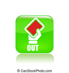 Vector illustration of single isolated red label icon