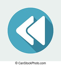Vector illustration of single isolated rewind icon