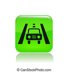 Vector illustration of single isolated road car icon
