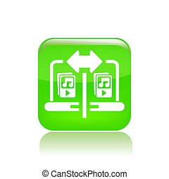 Vector illustration of single isolated share music icon