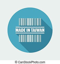 Vector illustration of single isolated Taiwan icon
