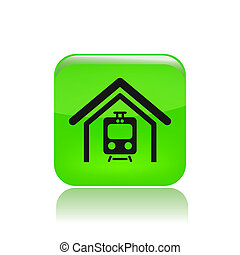 Vector illustration of single isolated train icon