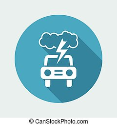 Vector illustration of single isolated car icon
