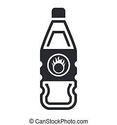 Vector illustration of single isolated dangerous bottle icon