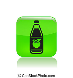 Vector illustration of single isolated juice bottle icon
