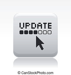 Vector illustration of single isolated update icon