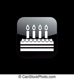 Vector illustration of single isolated birthday icon