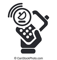 Vector illustration of single isolated phone icon