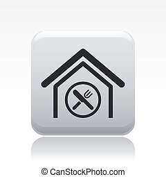 Vector illustration of single isolated restaurant icon
