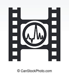Vector illustration of single isolated wave audio icon