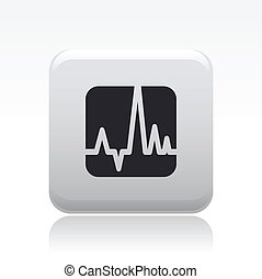 Vector illustration of single isolated wave icon