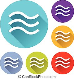 flood icons - vector illustration of six colorful flood...