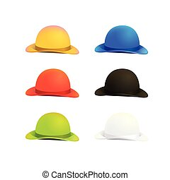 Six Colors Bowler or Derby Hat