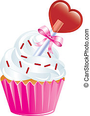 Valentine Sweets - Vector Illustration of six different ...