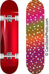 skateboard - vector illustration of skateboard upper and...