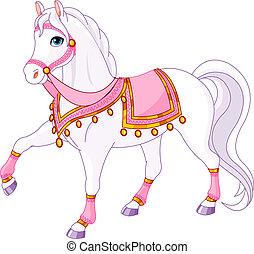 Royal Horse - Vector Illustration of skipping beautiful...