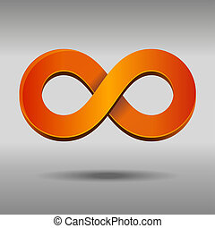 Infinity Symbol - Vector illustration of sleek style...