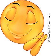 Sleeping smiley emoticon cartoon