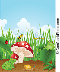 small animals  - Vector Illustration Of small animals