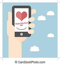 Happy Valentines Day on Mobile