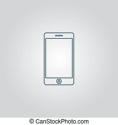 Vector illustration of smartphone icon