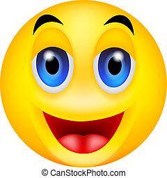 smile emotion - vector illustration of smile emotion
