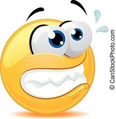 Smiley Emoticon Feeling Tense