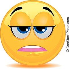 Smiley Emoticon Feeling Tired