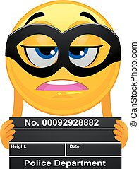 Smiley Emoticon Prisoner taking a Mug Shot