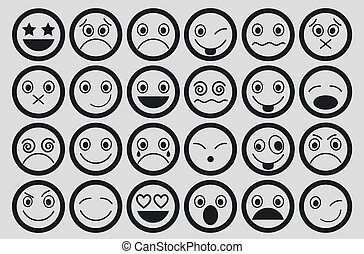 Smiley Icons Design set