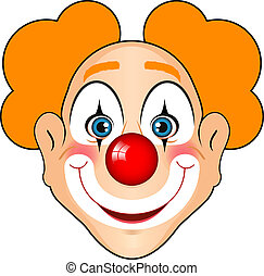 Vector illustration of smiling clown