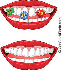 Smiling lip cartoon