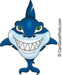 Smiling shark  - vector illustration of Smiling shark