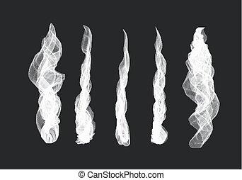 Smoke sets on transparent background