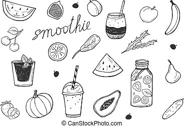 smoothie cocktails detox icons