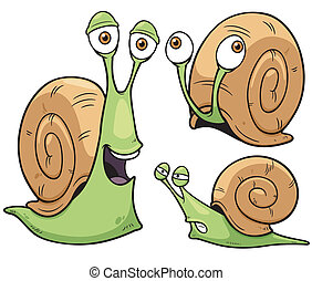 Snail - Vector illustration of Snail cartoon
