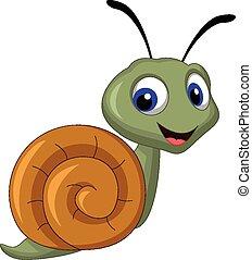 snail cartoon  - vector illustration of snail cartoon