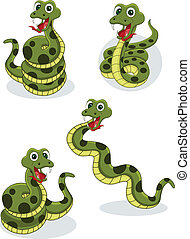 snake collection - vector illustration of snake collection