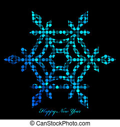 snowflake from disco lights - Vector illustration of ...