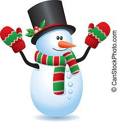 snowman - vector illustration of snowman