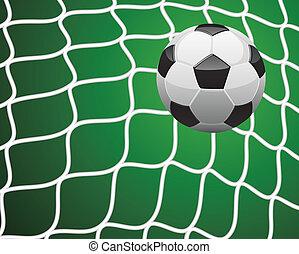 vector illustration of soccer goal