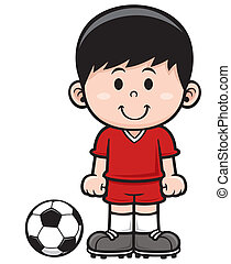 Soccer player - Vector illustration of Soccer player