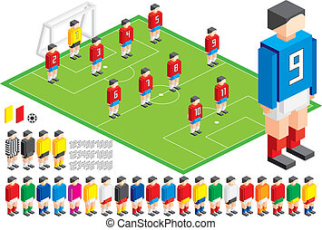 Soccer tactical Kit - Vector illustration of Soccer tactical...