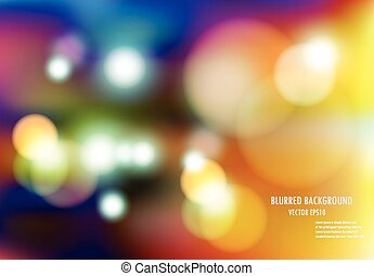 vector illustration of soft colored abstract blurred light background
