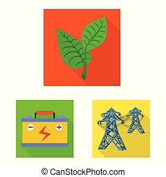 Vector illustration of Solar and panel icon. Collection of Solar and green stock vector illustration.