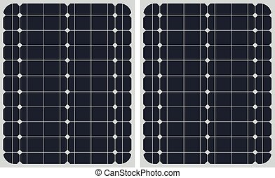 Vector illustration of Solar panel texture