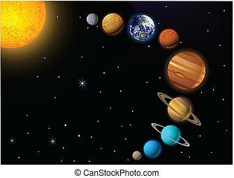 Solar system - Vector Illustration Of Solar system