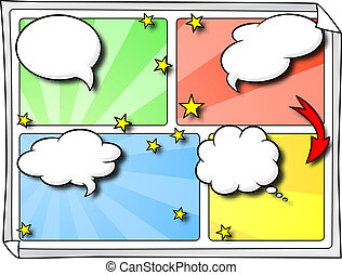 comic frames as background - vector illustration of some ...