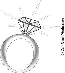 Sparkle Diamond Ring - Vector Illustration of Sparkle ...