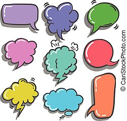 Vector illustration of speech bubble set